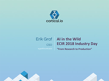 AI in the wild ECIR2018 Industry Day