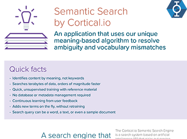 Semantic Search info sheet