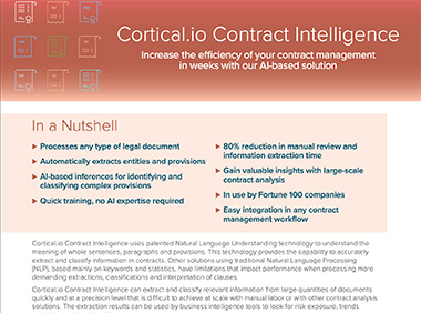 Contract Intelligence 3.0 Fact Sheet